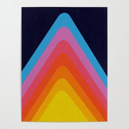 Colorful Peaks Poster