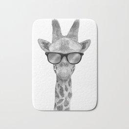 Hipster Giraffe Bath Mat