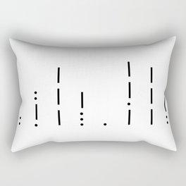 I love you Morse Code Rectangular Pillow