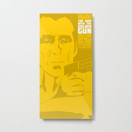 The Man With The Golden Gun Metal Print