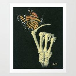 Butterfly & Bones Art Print