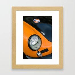 Porsches german car 356 gulf racing Hungaroring orange Framed Art Print