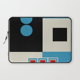 Abstract in Blue, Black, Red and Beige. See Companion Piece Laptop Sleeve