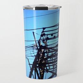 Power Lines with Heavy Vignette Travel Mug