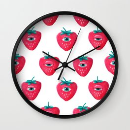 Cry Berry Pattern Wall Clock