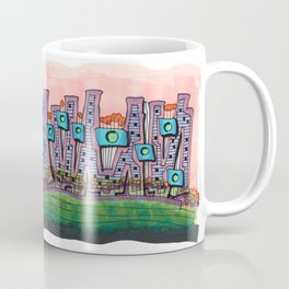 Waterfront Apartments Architectural Illustration 57 Coffee Mug