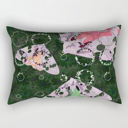 Flowers and Moths Rectangular Pillow