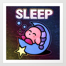 Kirby Sleep Art Print
