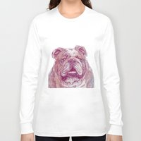 bulldog Long Sleeve T-shirts featuring Bulldog by Ahmad Mujib