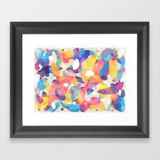 Chaotic Construction Framed Art Print