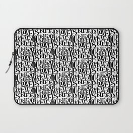 ALL YOU NEED IS LOVE x typography Laptop Sleeve
