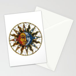 Celestial Mosaic Sun and Moon COASTER Stationery Cards