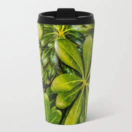 Top View Leaves Photo Travel Mug
