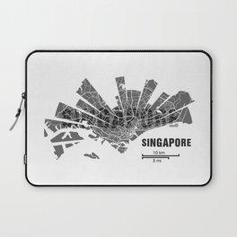 Singapore Map Laptop Sleeve