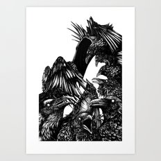 The Riot : Crows Art Print