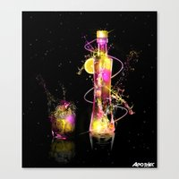 vodka Canvas Prints featuring Vodka Illustration by Apothec