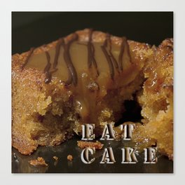 Eat Cake Canvas Print