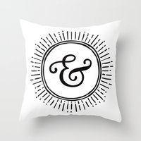 ampersand Throw Pillows featuring Ampersand by creative index