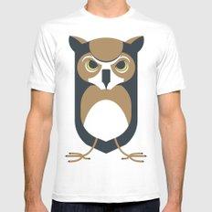 owl Mens Fitted Tee White MEDIUM