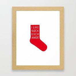 Sock Exchange Framed Art Print