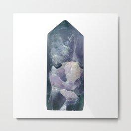 Fluorite crystal Metal Print