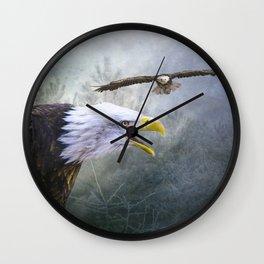 Eagle territory Wall Clock