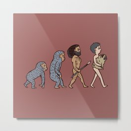 The Evolution Of Man Metal Print
