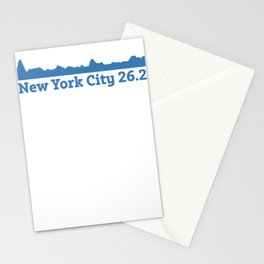 Run New York City Elevation Map 26.2 NYC Stationery Cards