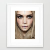 cara Framed Art Prints featuring Cara by Anna Sun