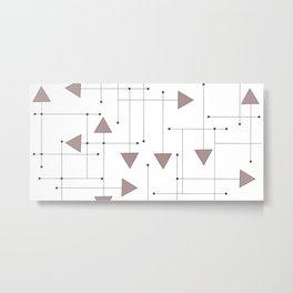 Lines & Arrows Metal Print