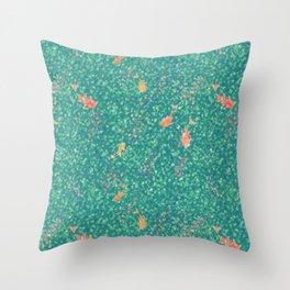 Koi Pond in Dappled Light Throw Pillow