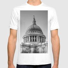 St Pauls, London MEDIUM White Mens Fitted Tee