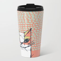 Cubist Cat Study #7 by Friztin Metal Travel Mug