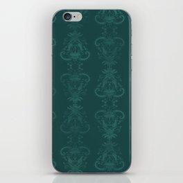 Carnivorous Damask (Turquoise) iPhone Skin
