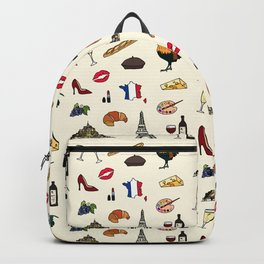 French pattern Backpack