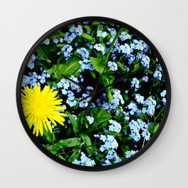 Yellow Rules Wall Clock