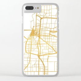 MEMPHIS TENNESSEE CITY STREET MAP ART Clear iPhone Case