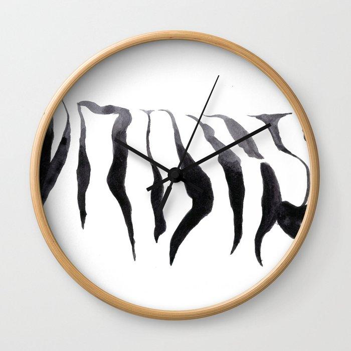 Zebra , Zebra Skin - Watercolor painting by Suisai Genki Wall Clock