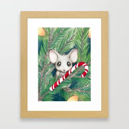 Christmas Mouse Framed Art Print