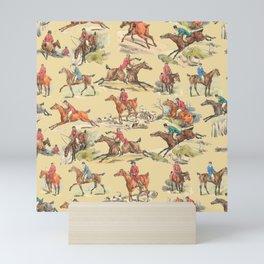HORSE RIDING IN THE FIELD Mini Art Print