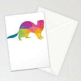 Splash Color Ferret Stationery Cards