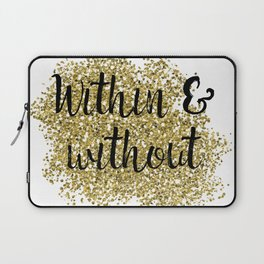 Within and without - golden jazz Laptop Sleeve