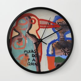 Please Do It Again Wall Clock