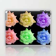 Rows of Rainbow Roses Laptop & iPad Skin