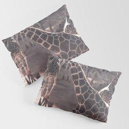 Giraffe Strut // Spotted Long Neck Graceful Creatures in Wildlife Preserve Pillow Sham