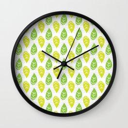 Turn Over A New Leaf Wall Clock