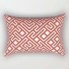 10 Print: Bold Red Rectangular Pillow