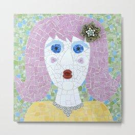 Mosaic - Ingrid Spots Her Soulmate Metal Print