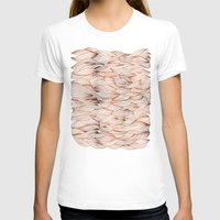 rose gold T-shirts featuring Rose Gold Waves by Cat Coquillette