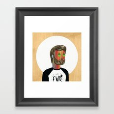 6x6 Man Framed Art Print